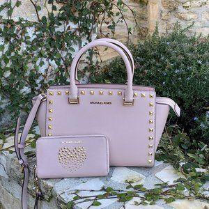 NwT Michael Kors studded md Selma handbag&wallet
